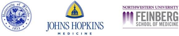 University of Florida, Johns Hopkins Medicine, and Northwestern University